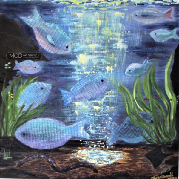 MOD Art - Ocean Light - Canvas Painting OP055