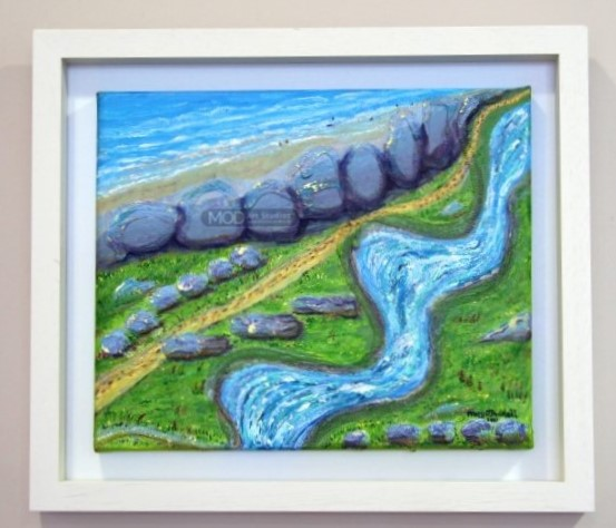 MOD ART - TIMEOUT in the Burren OP087 Original Painting from The Burren Vibrations Collection